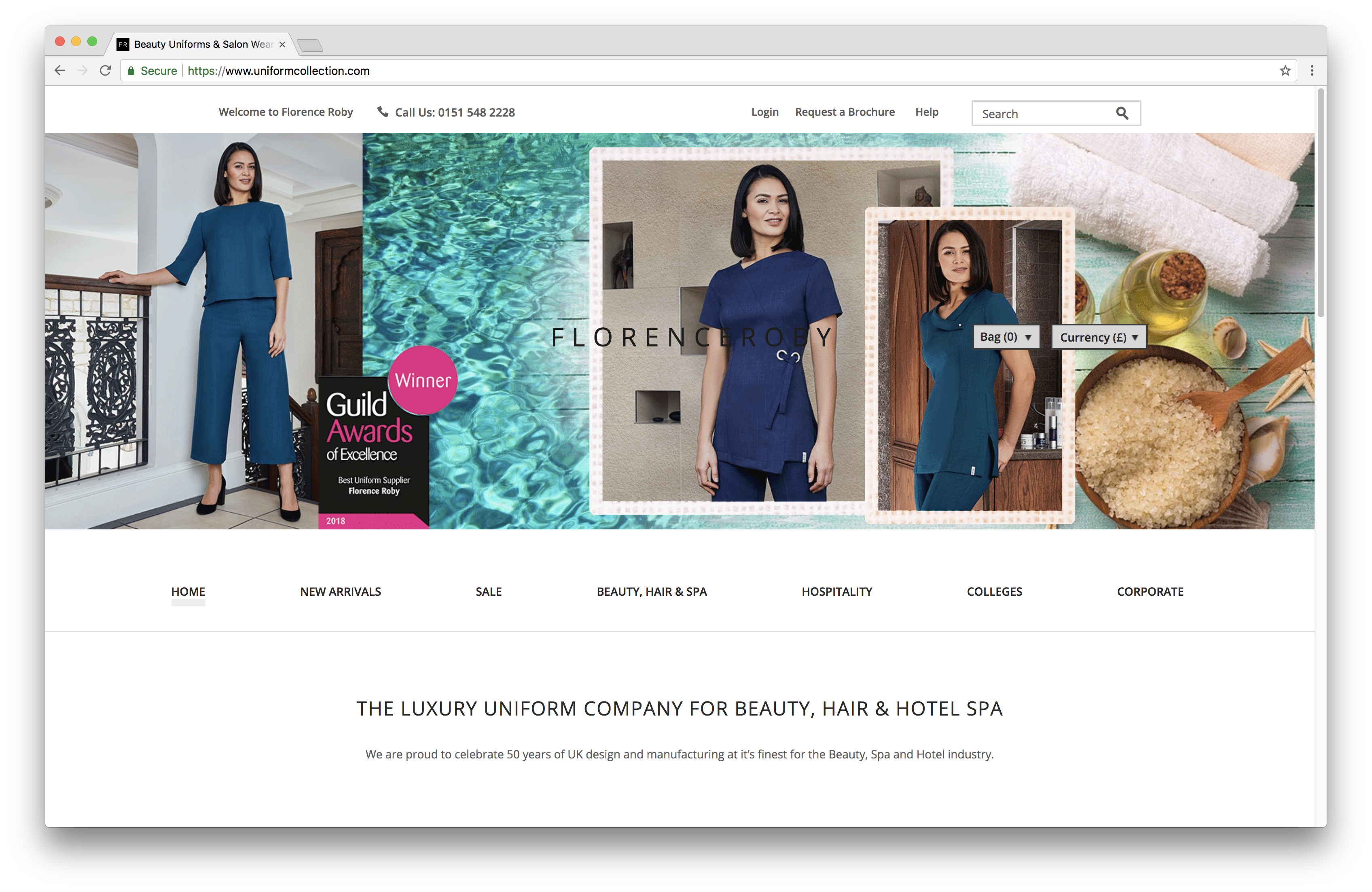 Magento Integration for Florence Roby Homepage | Magium Commerce